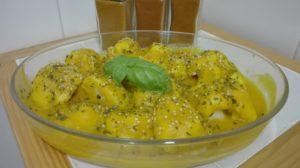 Coliflor de otoño con salsa de calabaza