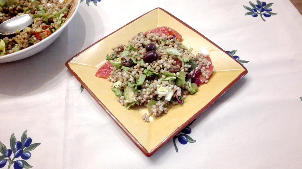Ensalada ligera de trigo sarraceno
